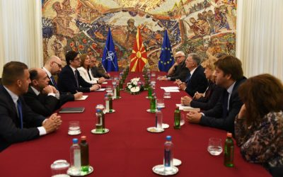 "President Pendarovski meets with representatives of the Association ""Diplomatic Club"" – Skopje"