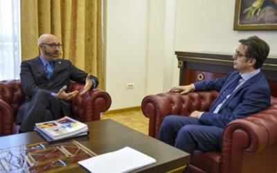 Претседателот Пендаровски го прими директорот на Канцеларијата на Светска банка, Марко Мантованели