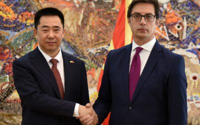 President Pendarovski receives the credentials of the newly appointed Ambassador of the People's Republic of China to the Republic of North Macedonia