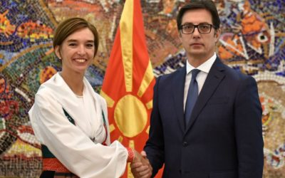 President Pendarovski receives the credentials of the newly appointed Ambassador of the Kingdom of Sweden to the Republic of North Macedonia