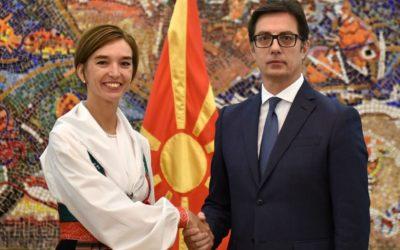 Претседателот Пендаровски ги прими акредитивните писма на новоименуванaтa амбасадорка на Кралството Шведска во Република Северна Македонија