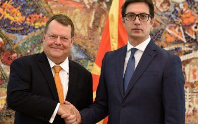 Претседателот Пендаровски ги прими акредитивните писма на новоименуваниот амбасадор на Кралството Холандија во Република Северна Македонија