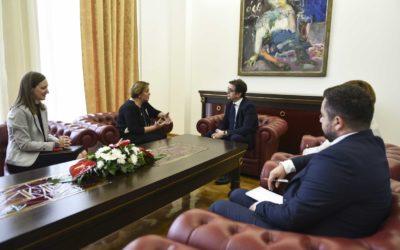 President Pendarovski receives UNDP Resident Representative Narine Sahakyan