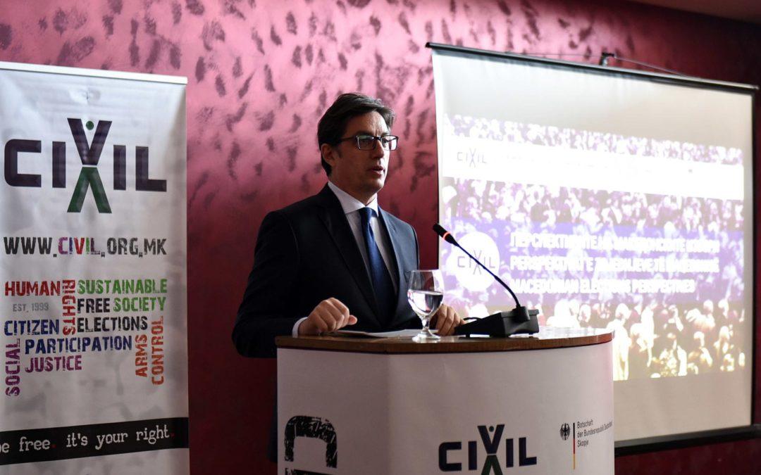 Претседателот Пендаровски се обрати на Конференцијата за изборни реформи: Перспективи на македонските избори