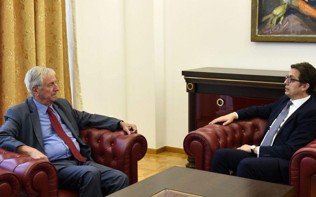 Претседателот Пендаровски прими делегација на Советот на амбасадорите