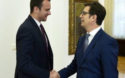 Средба на претседателот Пендаровски со Даријан Сотировски, директор на Комисијата за односи со верските заедници и религиозни групи