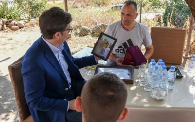 "President Pendarovski visits Kocani within the ""Face to Face with the President"" project"