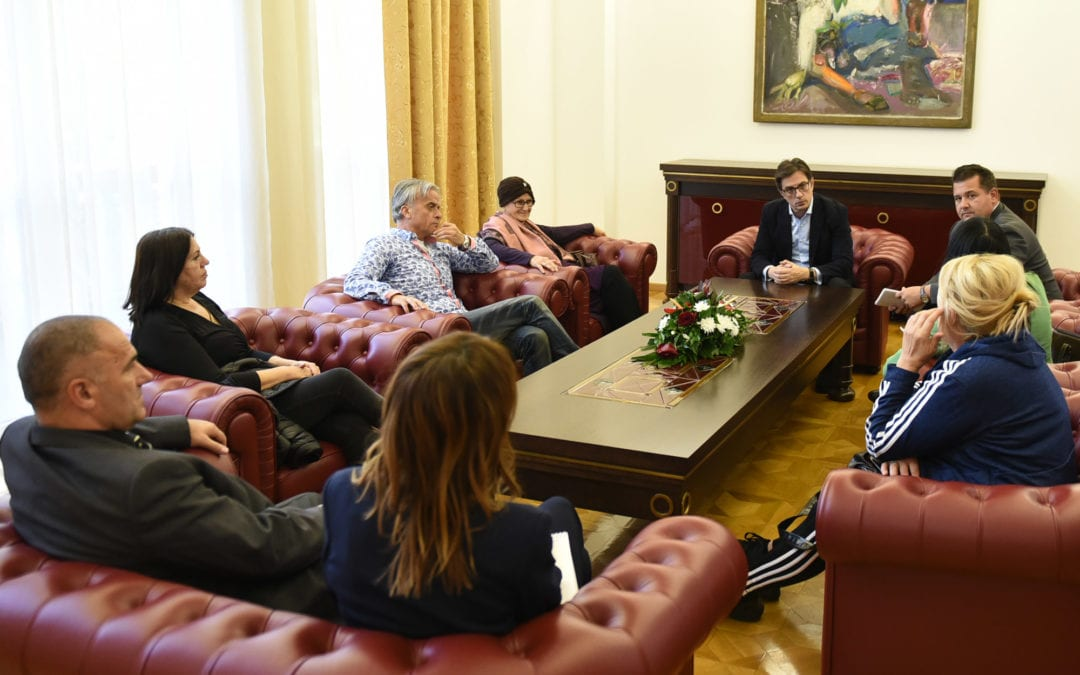 "President Pendarovski meets with representatives of ""Stop the Enforcement Agents"" initiative"
