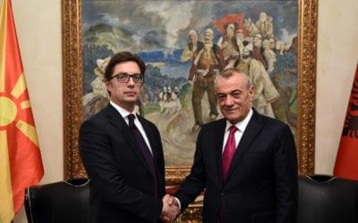 Средба на претседателот Пендаровски со претседателот на Собранието на Република Албанија, Грамоз Ручи