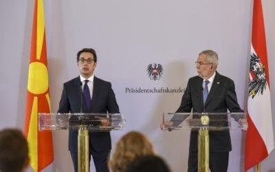 Изјава на претседателот Пендаровски на прес-конференцијата со австрискиот претседател Александер Ван дер Белен