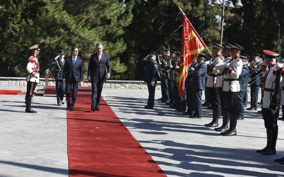 Претседателот Пендаровски домаќин на црногорскиот колега Ѓукановиќ