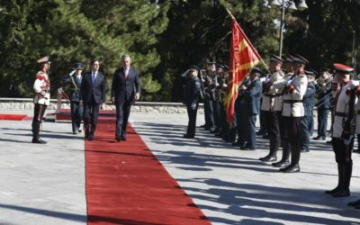 President Pendarovski hosts Montenegrin colleague Djukanovic