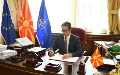 Претседателот Пендаровски го потпиша Указот за прогласување на Законот за изменување на Законот за финансирање на политичките партии
