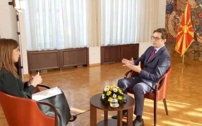 Интервју на Стево Пендаровски, претседател на Република Северна Македонија, за РТС