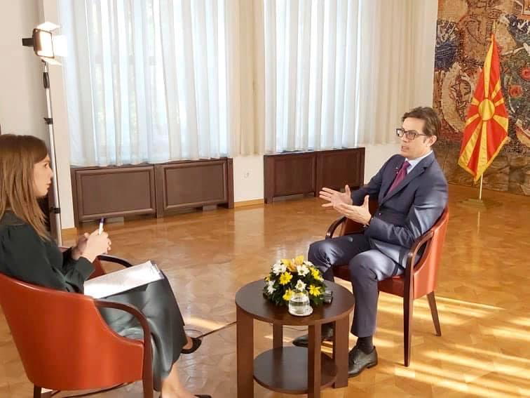 Intervistë e Stevo Pendarovski, presidenti i Republikës së Maqedonisë së Veriut, për RTS-në