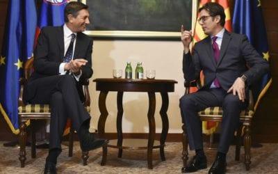 Средба на претседателот Пендаровски со словенечкиот претседател Пахор