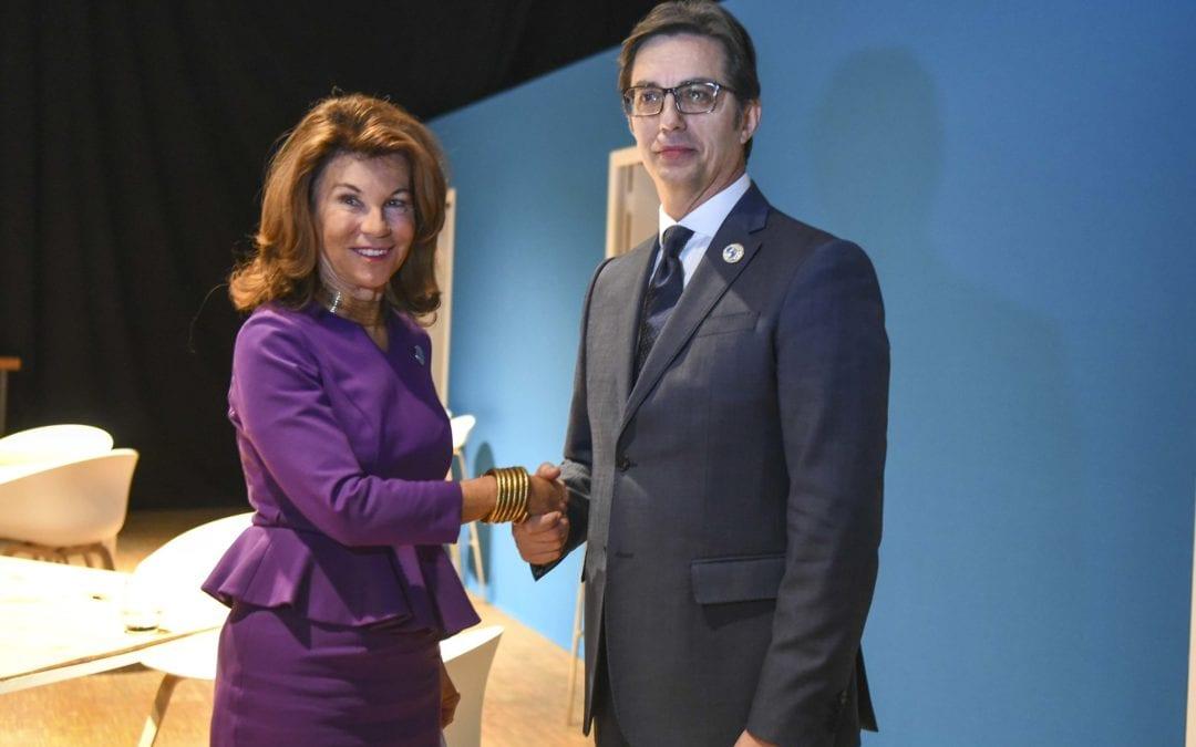 Средби на претседателот Пендаровски во рамки на Парискиот мировен форум