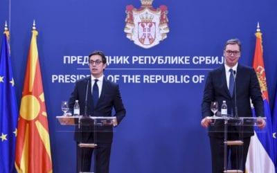 Изјава на претседателот Пендаровски на прес конференцијата со српскиот претседател Вучиќ
