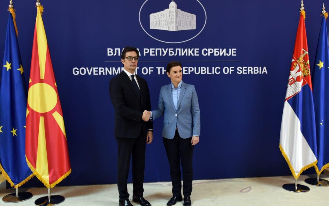 Средба на претседателот Пендаровски со српската премиерка Ана Брнабиќ