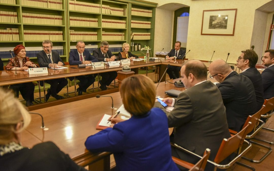 Средба на претседателот Пендаровски со членови на Сенатот на Република Италија