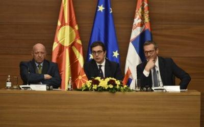 Средба на претседателот Пендаровски со Стопански комори од Северна Македонија и од Србија