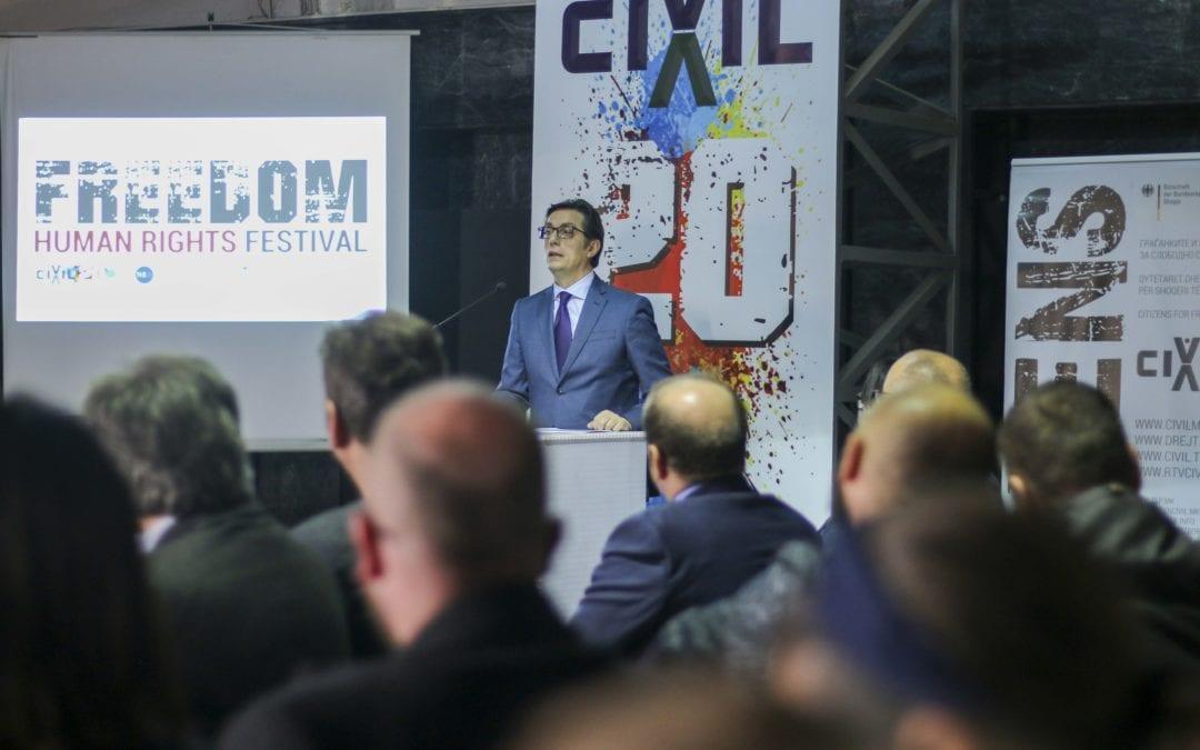 Fjalimi i Presidentit Pendarovski në konferencën e CIVIL me rastin e 20 vjetorit të themelimit të shoqatës qytetare