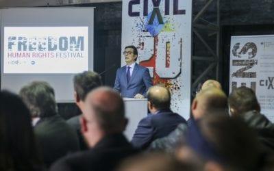 Претседателот Пендаровски се обрати на конференција на ЦИВИЛ по повод 20 годишнината од основањето на граѓанското здружение