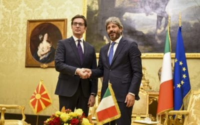 Средба на претседателот Пендаровски со претседателот на Долниот дом на Парламентот на Италија, Роберто Фико
