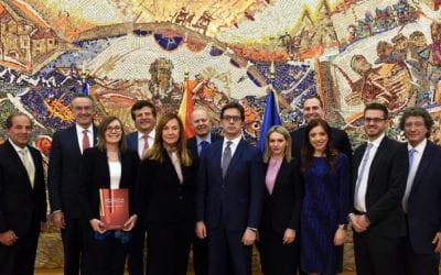 """Средба на претседателот Пендаровски со делегација на """"Македонија 2025"""""""