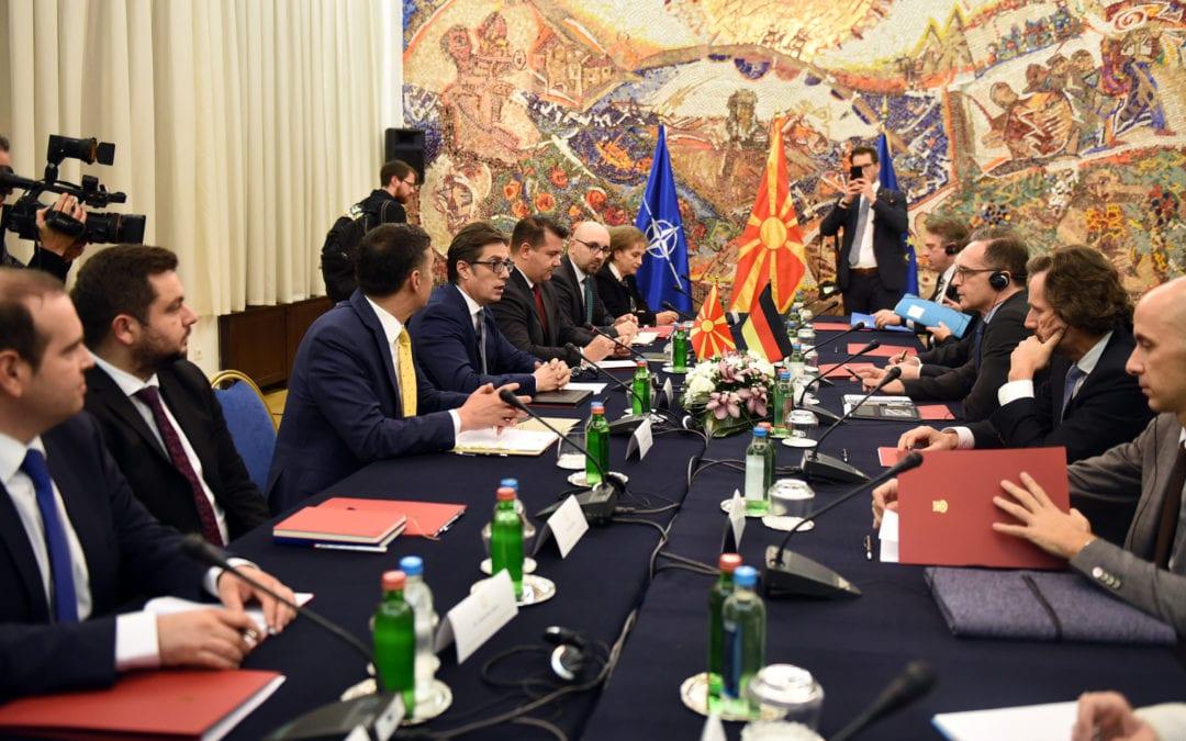 Средба на претседателот Пендаровски со министерот за надворешни работи на Сојузна Република Германија, Хајко Мас