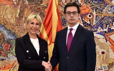 Претседателот Пендаровски ги прими акредитивните писма на новоименуваната амбасадорка на Република Хрватска, Тигањ
