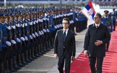 Filloi vizita zyrtare e presidentit Pendarovski në Republikën e Serbisë