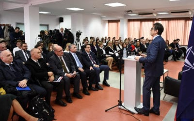 """Address on """"The Importance of NATO Membership for North Macedonia"""" at University American College Skopje"""