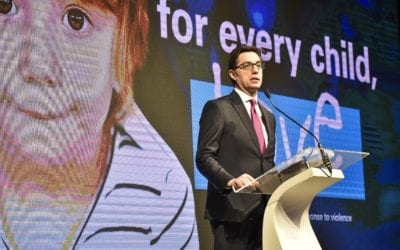 "President Pendarovski addresses the conference ""Scaling up Prevention and Response to Violence against Children in Western Balkans"""