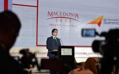"""Обраќање на претседателот Пендаровски на отворањето на годинешниот самит """"Македонија 2025"""""""