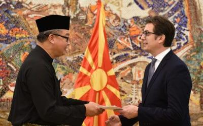 Претседателот Пендаровски ги прими акредитивните писма на новоименуваните амбасадори на Босна и Херцеговина и на Малезија во Република Северна Македонија