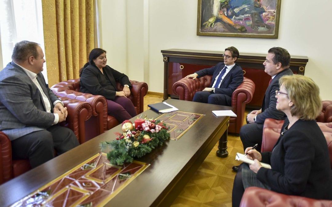 Претседателот Пендаровски ја прими постојаната координаторка на ООН во Република Северна Македонија, Росана Дуџак