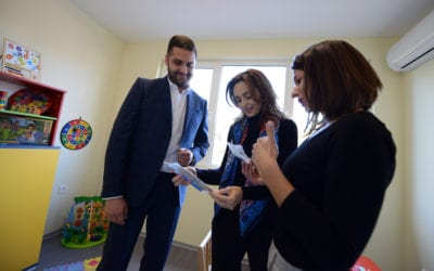 President's wife, Elizabeta Gjorgievska, attends the opening of the Center for Early Intervention and Treatment of Children with Autistic Spectrum Disorder in Ohrid