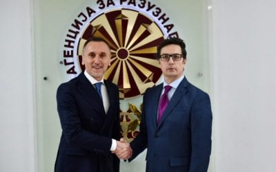 President Pendarovski in a working visit to the Intelligence Agency of the Republic of North Macedonia