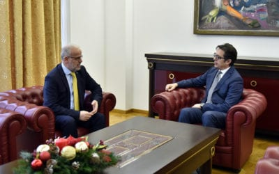 President Pendarovski meets with the President of the Assembly, Xhaferi