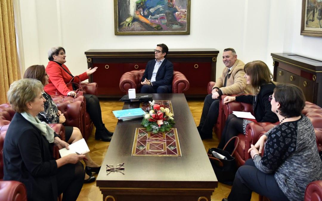 Средба на претседателот Пендаровски со претставници на Унијата на здруженија на медицински сестри, техничари, акушерки и стоматолошки сестри