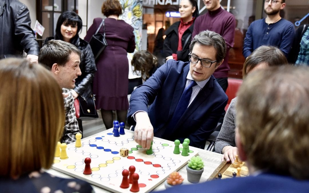 President Pendarovski meets with students from the Institute for Special Education and Rehabilitation: A Society with Room for Everyone Has More Chances of Success!