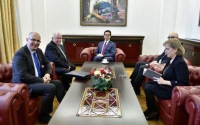 Претседателот Пендаровски ги прими словачкиот амбасадор Маркуш и македонскиот книжевен преведувач и библиограф Лекоски