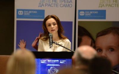 """Сопругата на Претседателот, Елизабета Ѓоргиевска, се обрати на настанот """"Едно семејство"""" на СОС Детско село – Македонија"""