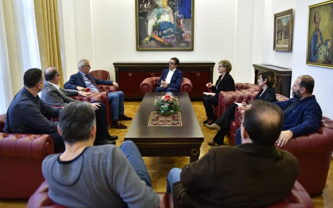 Претседателот Пендаровски прими претставници на секцијата на сниматели при ЗНМ