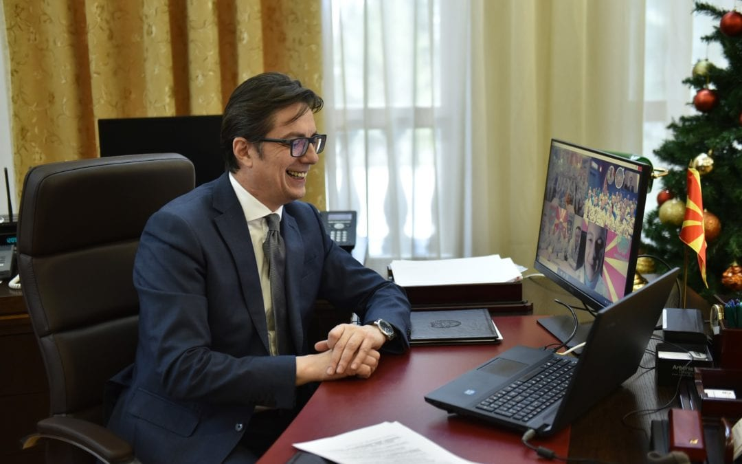 President Pendarovski in a video-conference link with our troops who are part of international peacekeeping missions