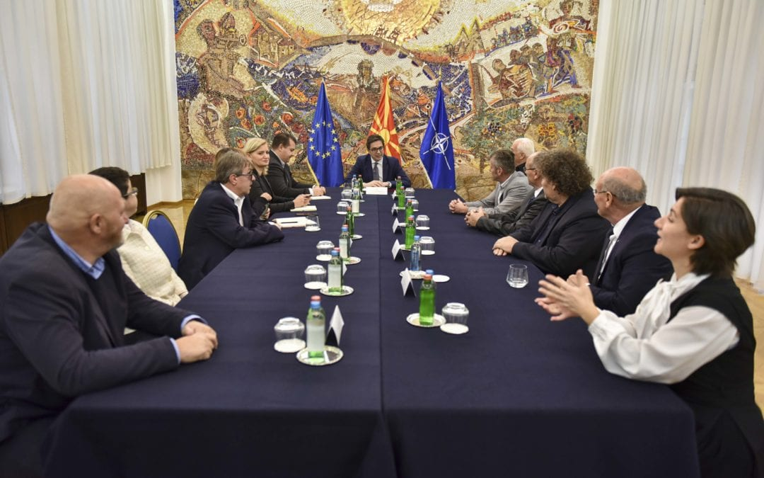 Средба на претседателот Пендаровски со претставници од Националниот совет на инвалидските организации