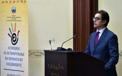 """Обраќање на претседателот Пендаровски на панел-дискусија на тема """"Правата на помалобројните заедници во нашата земја"""""""
