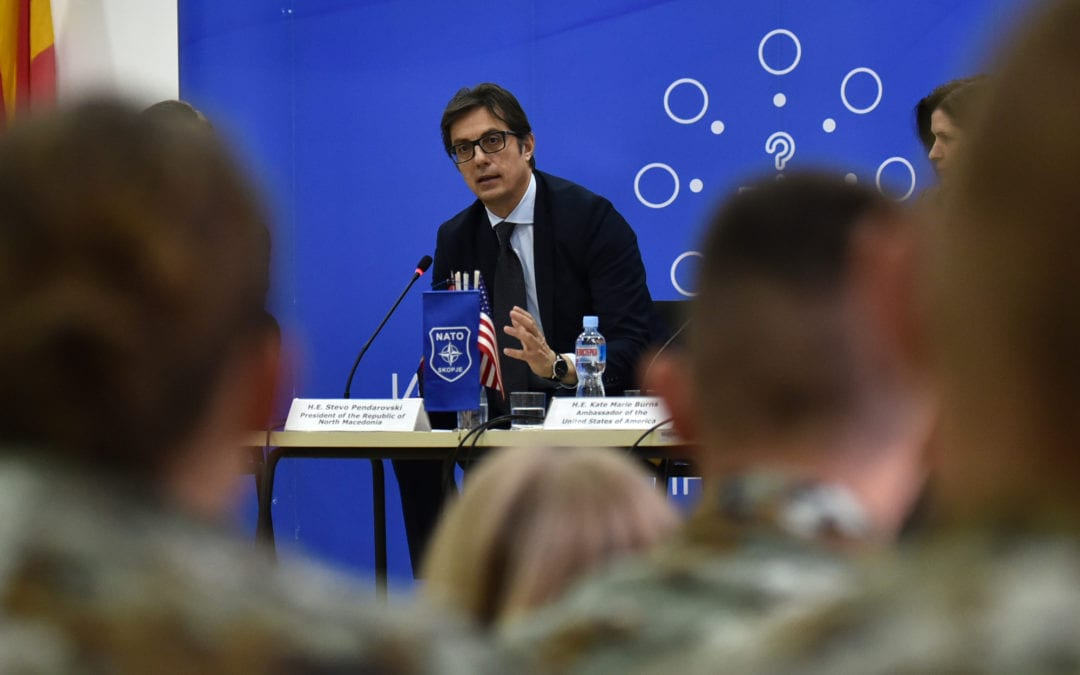 "President Pendarovski participates in debate ""The Role of the Republic of North Macedonia in NATO: Goals, Challenges and Opportunities"""