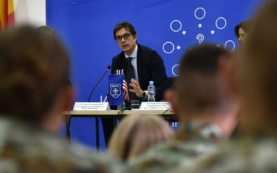"""President Pendarovski participates in debate """"The Role of the Republic of North Macedonia in NATO: Goals, Challenges and Opportunities"""""""